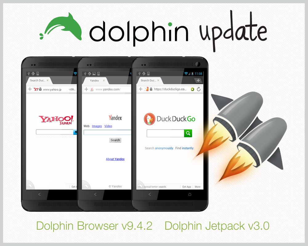 Phone Dolphin Browser For Android Phone dolphin for android jetpack update smoother browsing added search engines browser ios