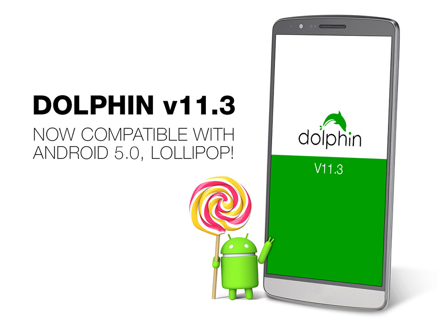 Dolphin Browser 11.3 Supports Android 5.0 Lollipop