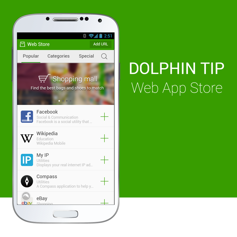 Dolphin Web App Store - Dolphin Browser for Android, iOS