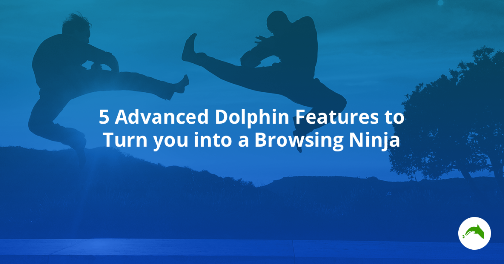 Master these five Advanced Dolphin Features to become a Browsing Ninja. Hiya!