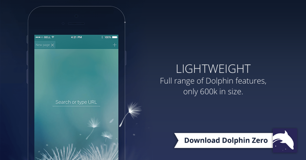 Dolphin Zero Lightweight Incognito Browser